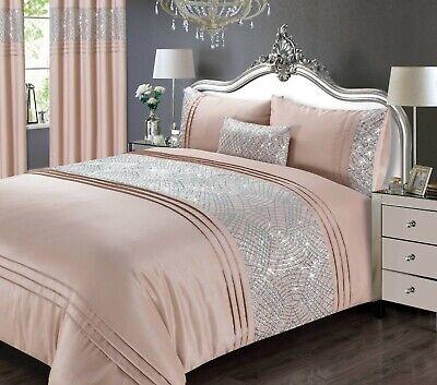 Rapport Luxury Charleston Sequin, Blush Pink Glitter Bedding