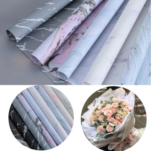 1PC//Pack Marble Pattern Wrapping Paper Scrapbook Crafts Bouquet Wrapping Paper A