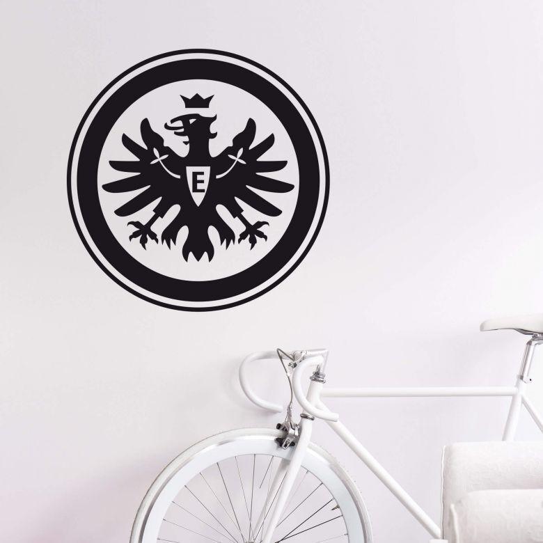 EINTRACHT FRANKFURT Wandtattoo Logo schwarz Sport Fanshop Bundesliga Aufkleber
