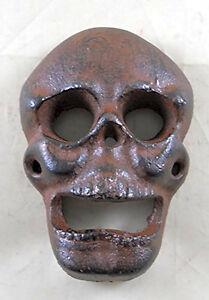 Skull Bottle Opener Cast Iron Beer Soda Beverages Bar Man Cave Rustic Decor Gift
