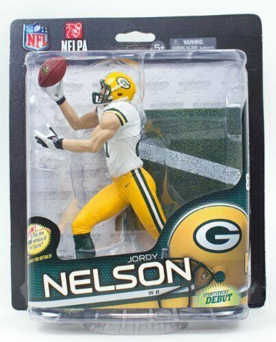 Jordy Nelson NFL Serie 32 verde Bay Packers Mcfarlane Variante De oro   500