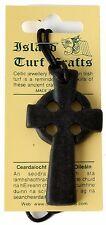 Irish Turf Celtic Cross Pendant 2'' (T25-J2) - Island Turf Crafts