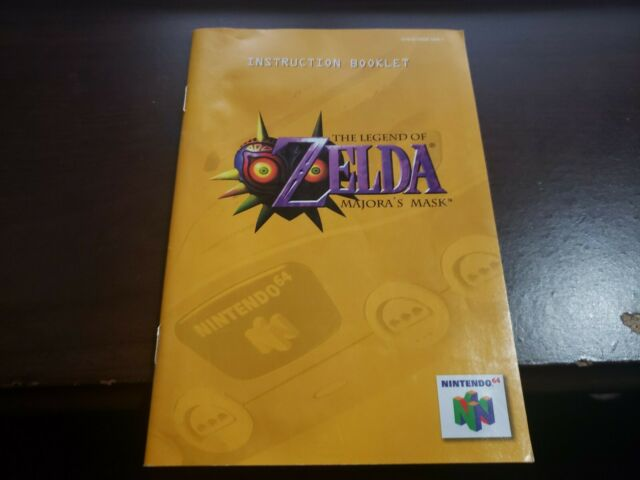 Legend of Zelda: Majora's Mask Manual N64
