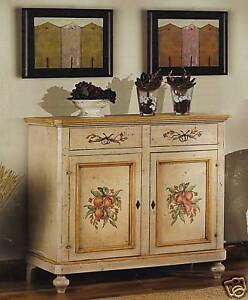 credenza stile tirolese decorata a mano legno massello | eBay