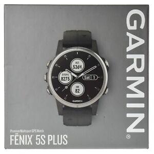 Details about Garmin fenix 5S Plus Multi-Sport Training GPS Watch 42mm,  Silver with Black Band