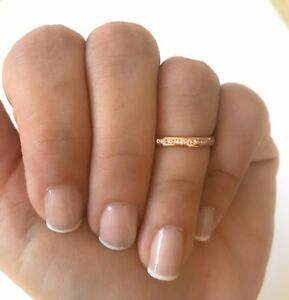 14k-Solid-Rose-Gold-Eternity-Diamond-Band-Stackable-Ring-Endless-Wedding-Band