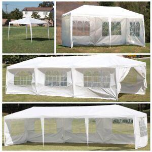 Image is loading 10-039-20-039-30-039-White-Outdoor- & 10u0027 20u0027 30u0027 White Outdoor Wedding Party Tent Patio Gazebo Canopy ...