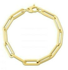 14k 14kt Yellow Gold Diamond-cut Satin Oval Beads Bracelet 0.84mm 7.5 inch