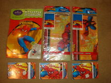 Spiderman Party Supplies Happy Birthday  2x Table cloths, 3 x  Invitations lot