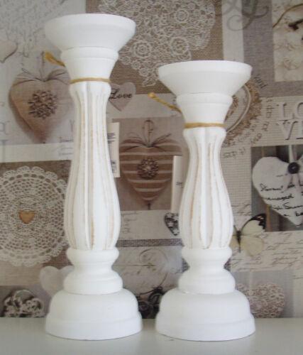 Stumpenkerzen weiss Kerzenhalter Kerzenständer Kerzenleuchter  für LED Kerzen u