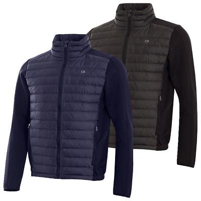 Calvin Klein Golf Mens Hybrid Ripstop High Collar Padded Jacket