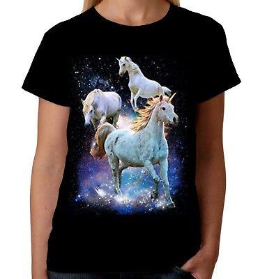 Velocitee Ladies Vest Psychedelic Fantasy Space Unicorn Celestial A21554