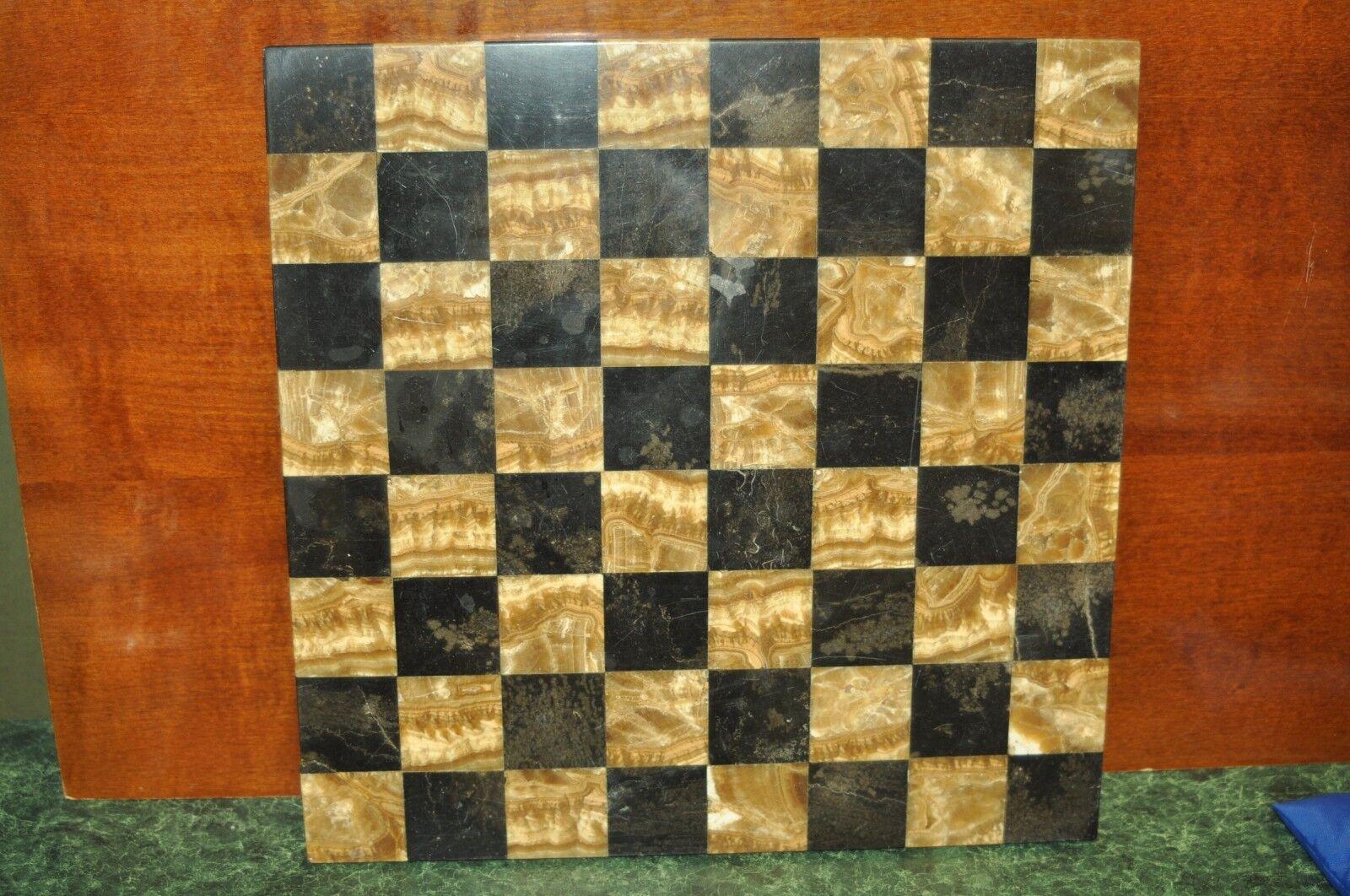 Vintage Beautiful Marble or Granite Chessboard 14  x 14