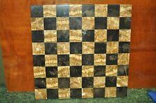 "Vintage Beautiful Marble or Granite Chessboard 14"" x 14"""