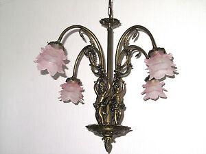 Kronleuchter Antik Bronze ~ Antik französische bronze glas putten kronleuchter lüster