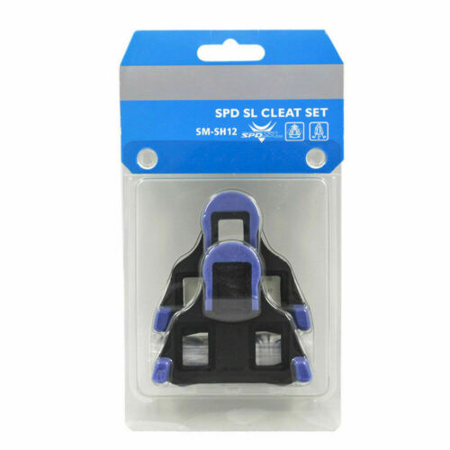 SM-SH12 Float Fixed SPD-SL Road Bike Bicycle Pedals Cleats Clipless Pedal Blue