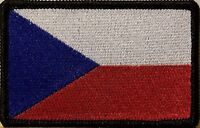 Czech Republic Flag Military Patch With Velcro® Brand Fastener Black Border