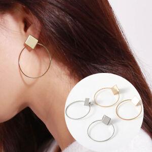 FASHION-semplice-Orecchini-Donna-QUADRATI-TONDI-geometrici-da-appendere-Orecchini-Jewelry
