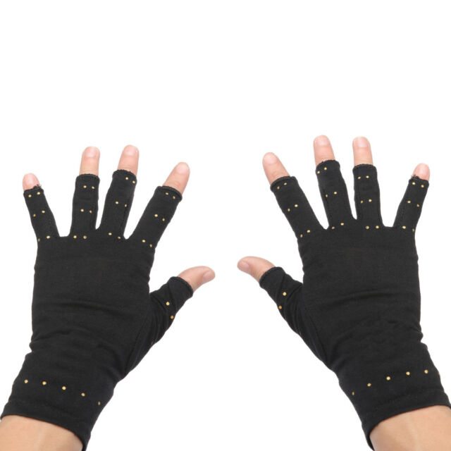 2Pcs Copper Arthritis Hands Gloves As Seen on Tv Therapeutic Compression Mittens