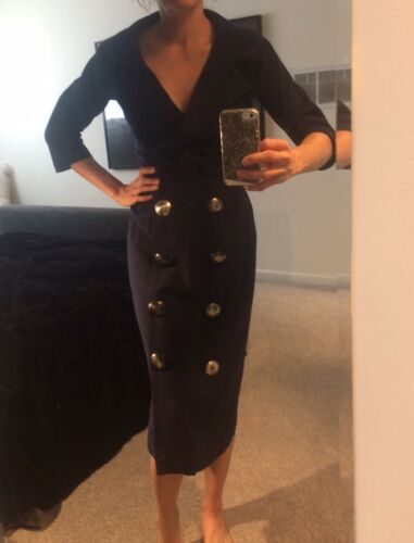 Vintage 40's 50's Hitchcock wiggle dress Pin Up Na