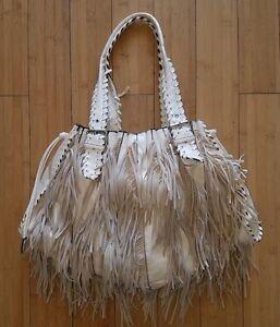 Image Is Loading Galian New York Fringe Leather Handbag
