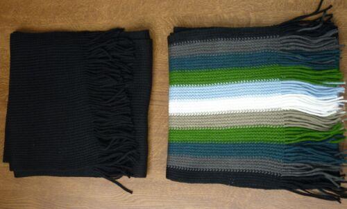 2 x Schal schwarz und Streifenmotiv Ideal für den Winter Länge 160 cm
