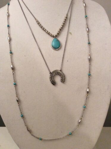 LUCKY BRAND NECKLACE 3 LAYERS Squash Blossom Lucky Layer Necklace $49 #Y116a