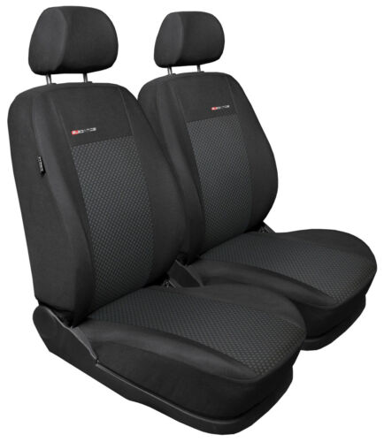 3 Front car seat covers fit Fiat Doblo front seats charcoal grey