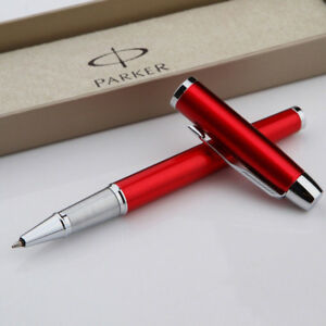 Perfect-Parker-Pen-Red-Silver-Clip-IM-Series-0-5mm-Nib-Rollerball-Pen
