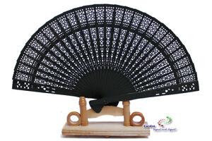Möbel & Wohnen 10 X Holzfächer Handfächer Fächer In Schwarz Kleidung & Accessoires