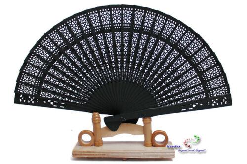 10 x  Holzfächer  Handfächer Fächer in schwarz