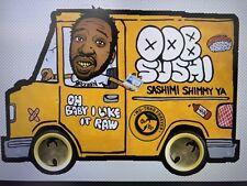 "Wu Tang Old Dirty Bastard Vinyl Decal Sticker 5.3"" x 7.5"" (ODB Sushi Truck)"