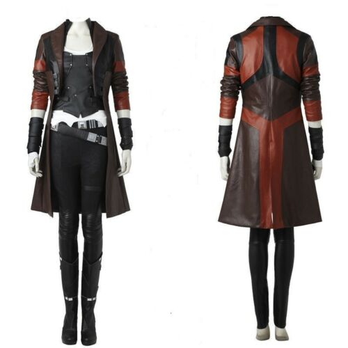 Galaxy The Gamora Guardians Cosplay Of 2 Vol Womens Coat Trench qw7HBRXI