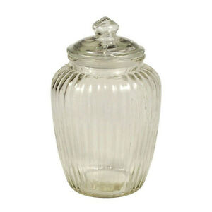 designer kitchen storage jars decorative ribbed glass jar wavy with lid for cookie sweet 6640