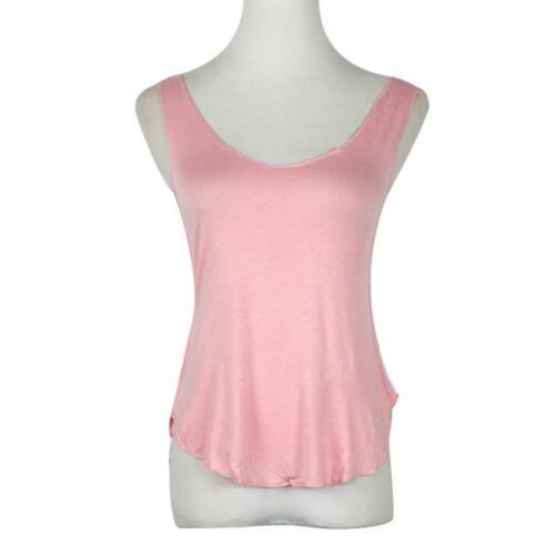 Women Ladies Summer Tank Tops Cami Lace Casual Sleeveless Camisole Vest T-Shirts