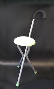 Disability Medical Aid Folding Seat Cane Walking Stick