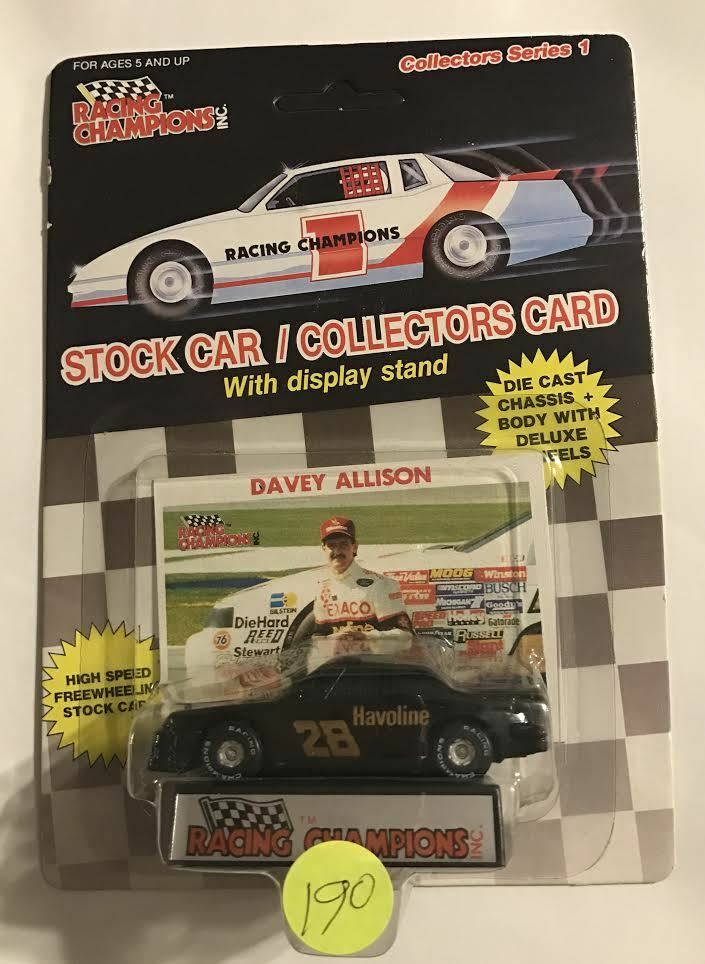 1989  DAVEY ALLISON  SERIES 1 - - - RUBBER TIRE - TEXACO  NAME 6bd0af