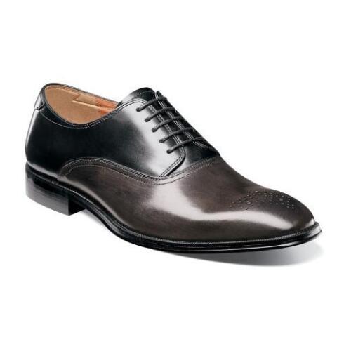 Florsheim Mens Shoes Belfast Medallion Toe Oxford Gray Multi 14226-062