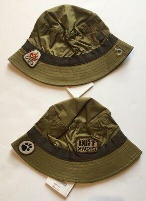 GYMBOREE WILDERNESS CLUB CAUTION NINJA BUCKET HAT 3 4 5 7 NWT