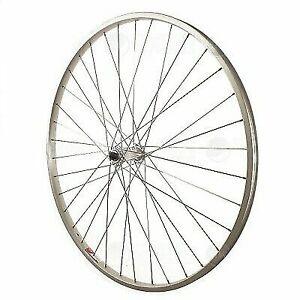 Release Sta Tru Front Wheel 27x1 1//4 Silver 36 Spokes Alloy Rim 100mm Quick
