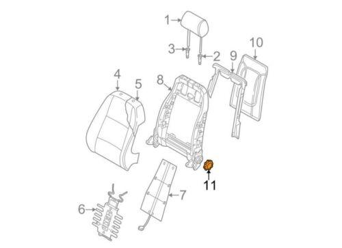 AUDI NEW GENUINE A4 B6 B7 BLACK FRONT SEAT BACKREST ADJUSTMENT KNOB WHEEL