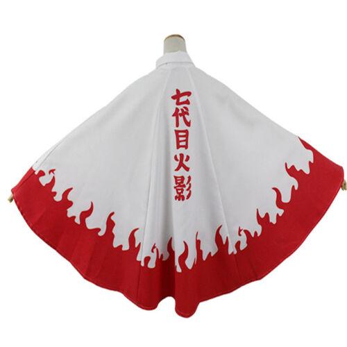 Naruto Boruto Uzumaki Naruto The Seventh Hokage Cosplay Costume Cloak Cape