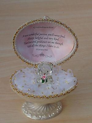 GRANDMOTHER@Unique@Faberge Design@GRAN@22kt@EASTER EGG Gift@Glass@NANA Verse