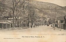A View Of Main Street In Winter, Phoenicia NY