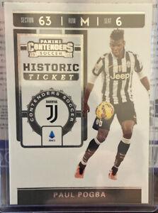 2019-20 Panini Chronicles Soccer Paul Pogba Contenders Historic Ticket Juventus