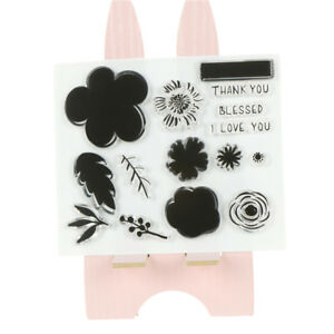 flower Silicone Clear Stamp Transparent Rubber Stamps DIY Scrapbooking Craft PA