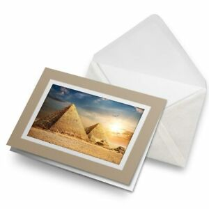 Greetings-Card-Biege-Amazing-Pyramid-Sunset-Egyptian-8472