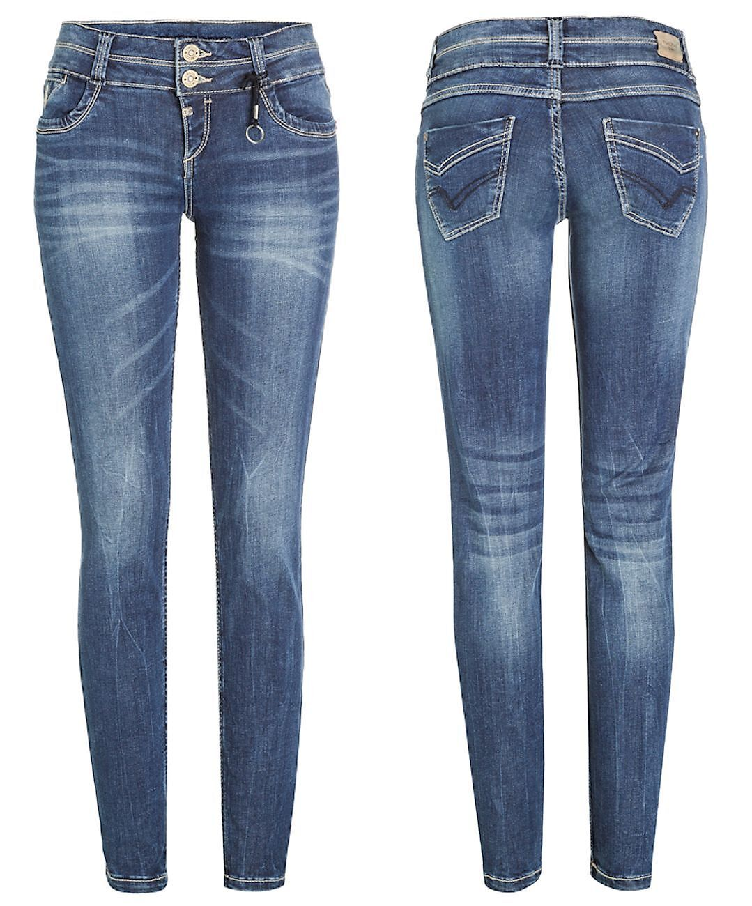 Timezone Damen Jeans 17-10025 Enya Slim denim Hose Pants Röhre Stretch Basic