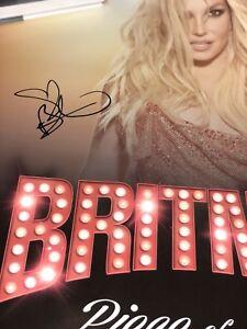 Britney Spears Piece Of Me Las Vegas Autographed Poster Ebay