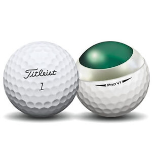 50-Titleist-Pro-V1-2018-Near-Mint-Used-Golf-Balls-AAAA-Free-Dual-Brush